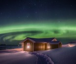 Aurora and the cottage