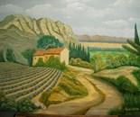 LG 0007 - Paesaggio Romagnolo - olio su tela - cm. 45x35