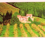 LG 0013 - Toscana casolari con vigneti - olio su tela - cm. 60x40