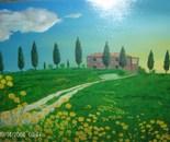 LG 0014 - Paesaggio di Toscana - olio su tela - cm.60x40