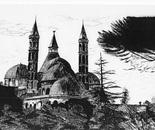 LG 0016 - Padova Cattedrale S. Antonio - china su cartoncino - cm. 40x27