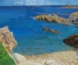 LG 0026 - Sardegna spiaggia di Quirra - olio du tela - cm. 80x45