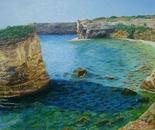 LG 0027 - Puglia Cala San Nicola - olio su tela -cm. 40x30