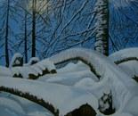LG 0038 - Piemonte inverno in Val Varaita - olio su tela -cm. 30x40