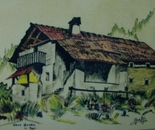 LG 0057 - Val Gardena Casa Gustin -china colore su cartoncino - cm. 30x25