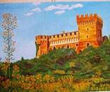 LG 0069 - Marche il castello di Gradara - olio su tela - cm. 40x30