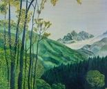 LG 0070 - Piemonte verde vallata - olio su tela - cm. 40x60