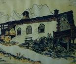 LG 0074 - Val Gardena casa Larciunei - china colore su cartoncino - cm. 30x25