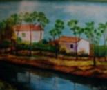 LG 0086 - Lungo il torrente Lura - olio su tela - cm. 30x24
