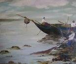 LG 0089 - Sardegna pescatori di Gallura - olio su tela - cm. 50x40