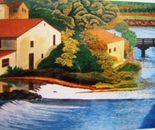 LG 0100 - Mantova il ponte sul Mincio - olio su tela - cm. 60x40