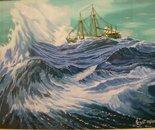 LG 0103 - Tempesta in alto mare - olio su tela -cm. 40x30