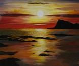LG 0105 - Norvegia il Sole di mezzanotte - olio su tela - cm. 60x50