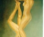 LG 0117 - Giochi d'amore - olio su tela - cm. 50x70