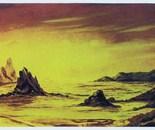 LG 0119 - Scogliera al tramonto - olio su tela - cm. 60x40