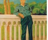 LG 0120 - L'amico Felice - olio su tela - cm. 30x40