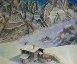 LG 0127 - Bolzano Alpe Siusi rifugio alpino - olio su tela . cm. 30x40