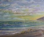 LG 0134 - Marina al tramonto - olio su tela - cm. 30x24