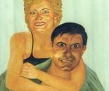 LG 0142 - Rosa e Piero - olio su tela - cm. 30x40