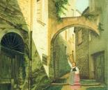 LG 0150 - Liguria pittoresca - olio su tela - cm. 30x40