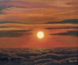 LG 0153 - L'Alba del solstizio - olio su tela - cm. 50x45