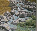 LG 0164 - Piemonte il torrente Sangone - olio su tela - cm. 30x40