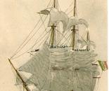 LG 0165 - Il Vascello Vittori Emanuele - china e pastelli su cartoncino - cm. 21x30