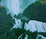 LG 0170 - Umbria la cascata delle Marmore - olio su tela - cm. 30x40