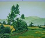 LG 0179 - Paesaggio campestre - olio su tela - cm. 40x30