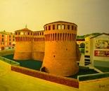LG 0181 - Riolo Terme la Rocca - olio su tela - cm. 40x30