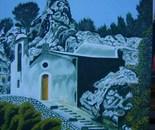 LG 0183 - Sicilia Caltabellotta Chiesa di S.Maria dellas pietà - olio su tela - cm. 30x40