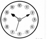 LG 0237 - L'ora esatta per intervenire - china colore su cartoncino - cm. 23x19