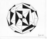 LG 0239 - Composizione geometrica - china su cartoncino - cm. 23x19