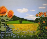 LG 0242 - Colline di Toscana - olio su tela - cm. 60x40