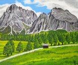 LG 0253 - Alpe Siusi Bolzano - olio su tela - cm. 24x18