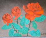 LG 0254 - Rose rosse - olio su tela - cm. 24x18