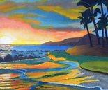 LG 0259 - Colori di Polinesia - olio su tela - cm. 30x40
