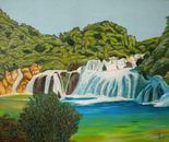 LG 0285 - Parco naturale di Krka in Croazia - olio su tela - cm. 40x30