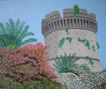 LG 0286 - Castello Angioino Aragonese - olio su tela - cm. 35x25
