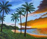 LG 0288 - Isola di Maui Hawaii - nolio su tela - cm. 50x30