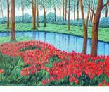 LG 0300 - Tulipani - olio su tela - cm. 30,5x18,5