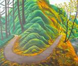 LG 0323 - Sentiero nel bosco - olio su tela - cm. 50x35