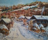 The village in the winter