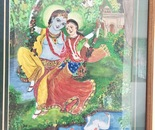 Krishna n Radha on swing