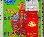 "My acrylic on canvas 10""X8"" painting ""Aboriginal Turtle"" won Second Place at the Montgomery County Agricultural Fair 2016; August 12 - 20, Gaithersburg, MD"
