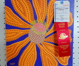 "My acrylic on canvas, 12""X12 painting ""Dayglow Flower"" won Second Place at the Montgomery County Agricultural Fair 2016; August 12 - 20, Gaithersburg, MD"