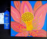 "My acrylic on canvas 12""X12"" artwork ""Lotus"" won 1st place at the Maryland State Fair, August 24 - September 4, 2016; 2200 York Rd, Timonium, MD 21093"