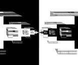 Schwarzweisse Architekturphantasie