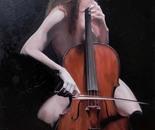 With cello