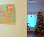 "Natalya B. Parris' paintings ""Bachelor"" and ""Cherry Blossom in DC"" were juried to the Rockville Art League annual members show December 4 - 30, 2016; Opening Reception on Sunday, December 4, 2016, Glenview Mansion, 603 Edmonston Dr., Rockville, MD"